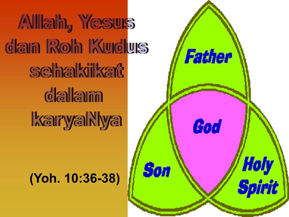 Allah, Yesus dan Roh Kudus sehakikat dalam karyaNya