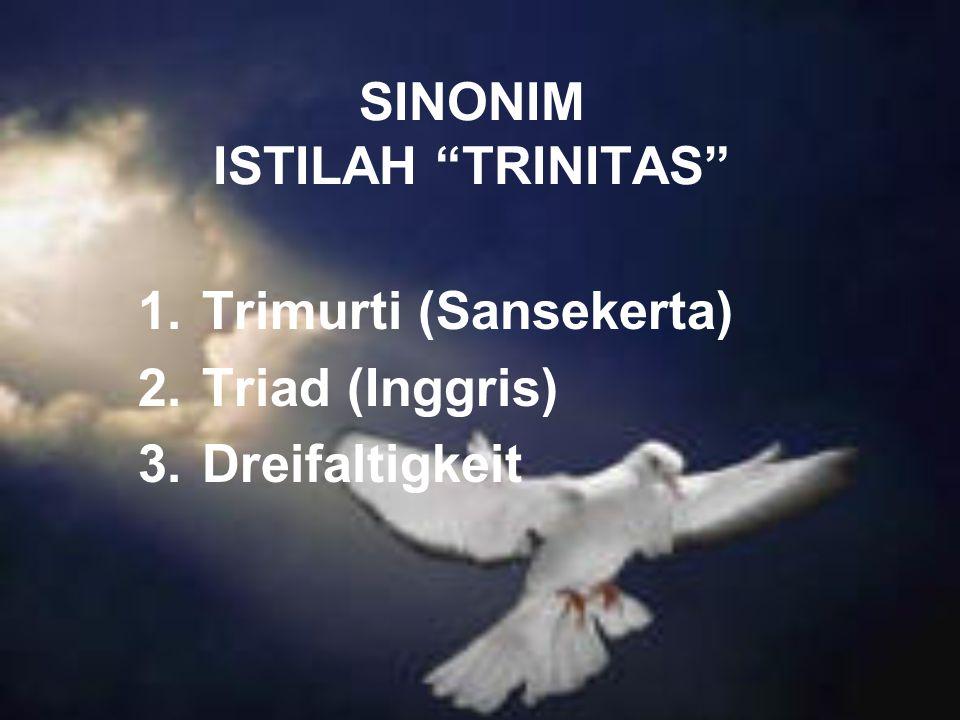 SINONIM ISTILAH TRINITAS