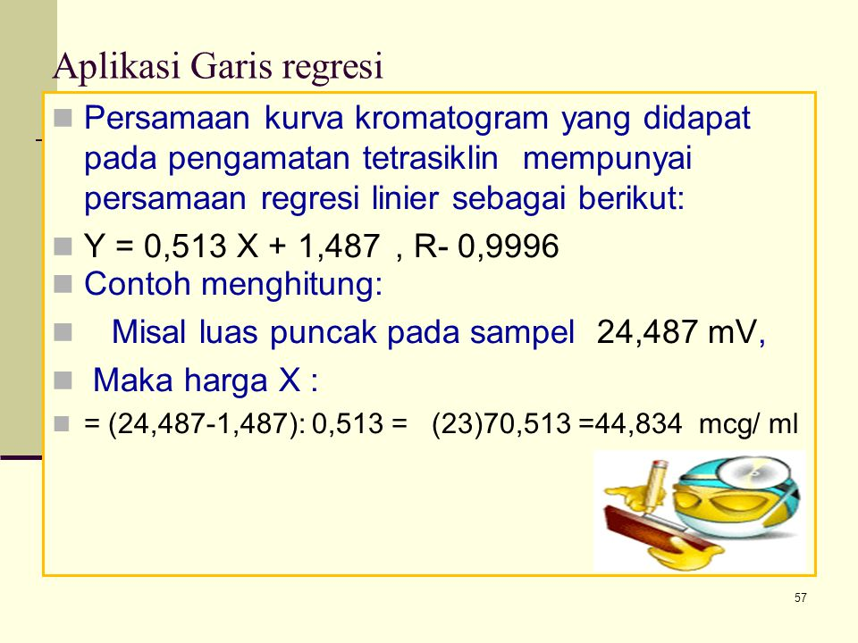 Aplikasi Garis regresi