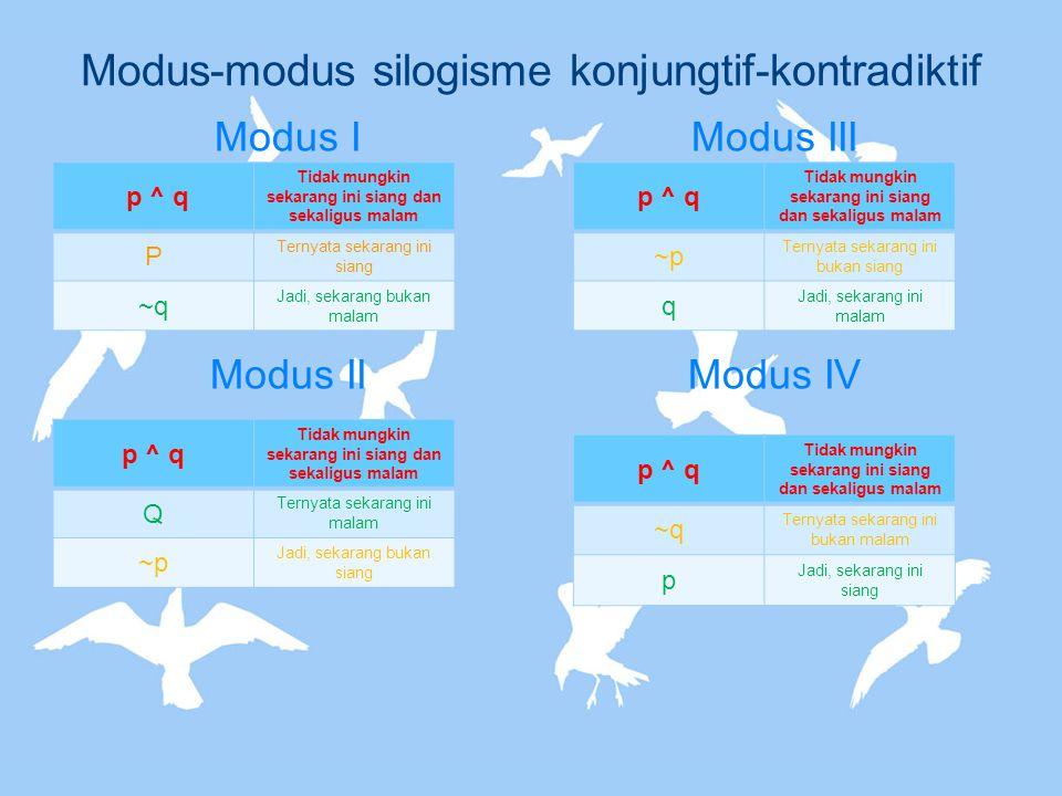 Modus-modus silogisme konjungtif-kontradiktif
