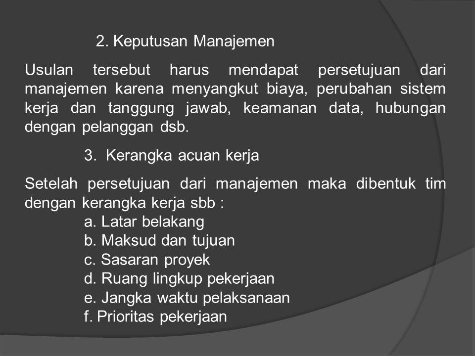 2. Keputusan Manajemen