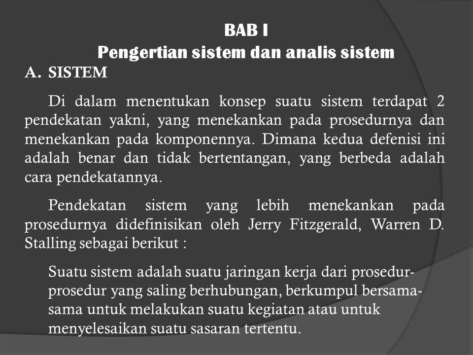 Pengertian sistem dan analis sistem