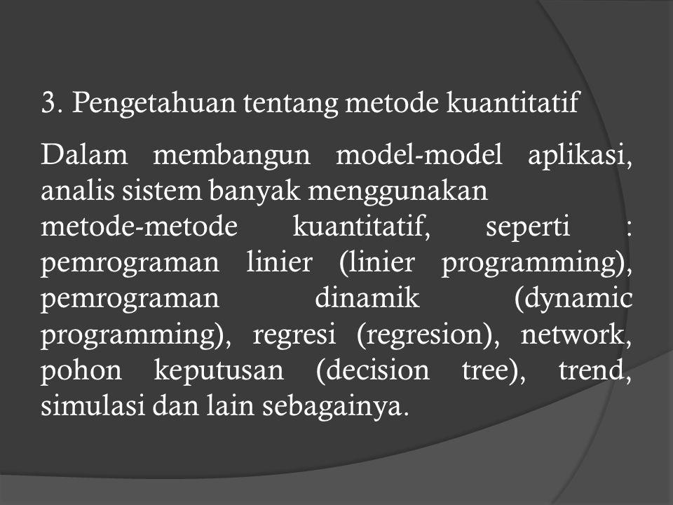 3. Pengetahuan tentang metode kuantitatif