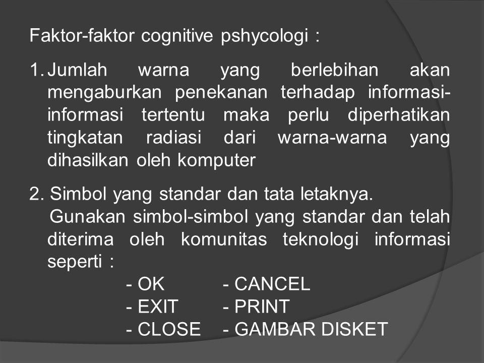 Faktor-faktor cognitive pshycologi :