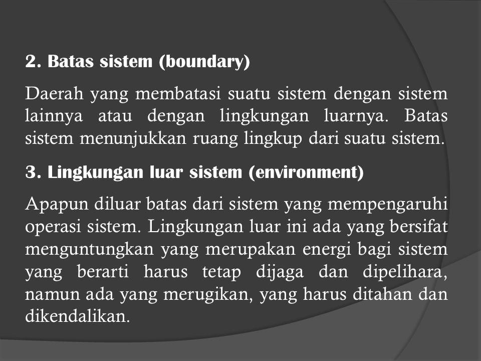 2. Batas sistem (boundary)