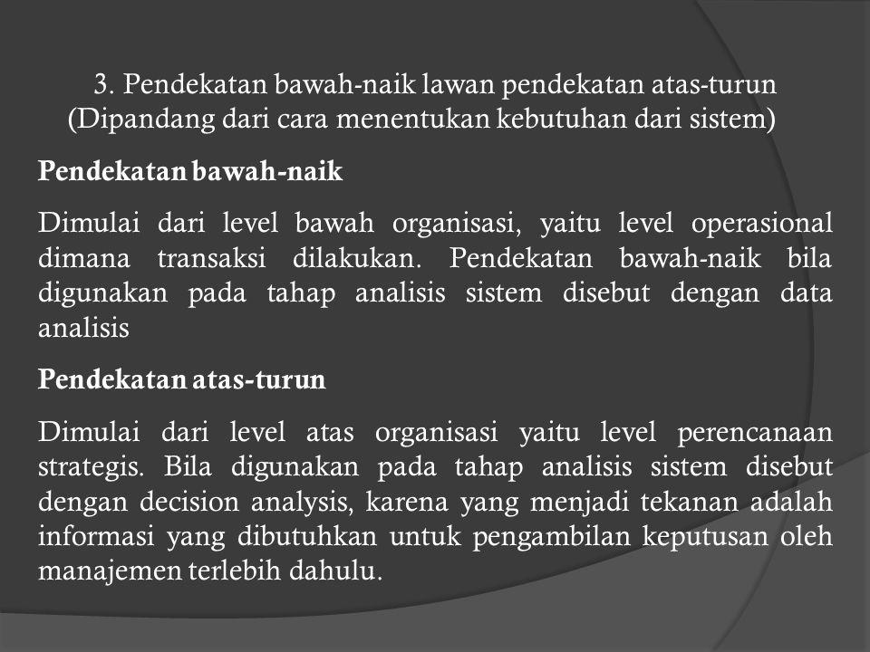3. Pendekatan bawah-naik lawan pendekatan atas-turun