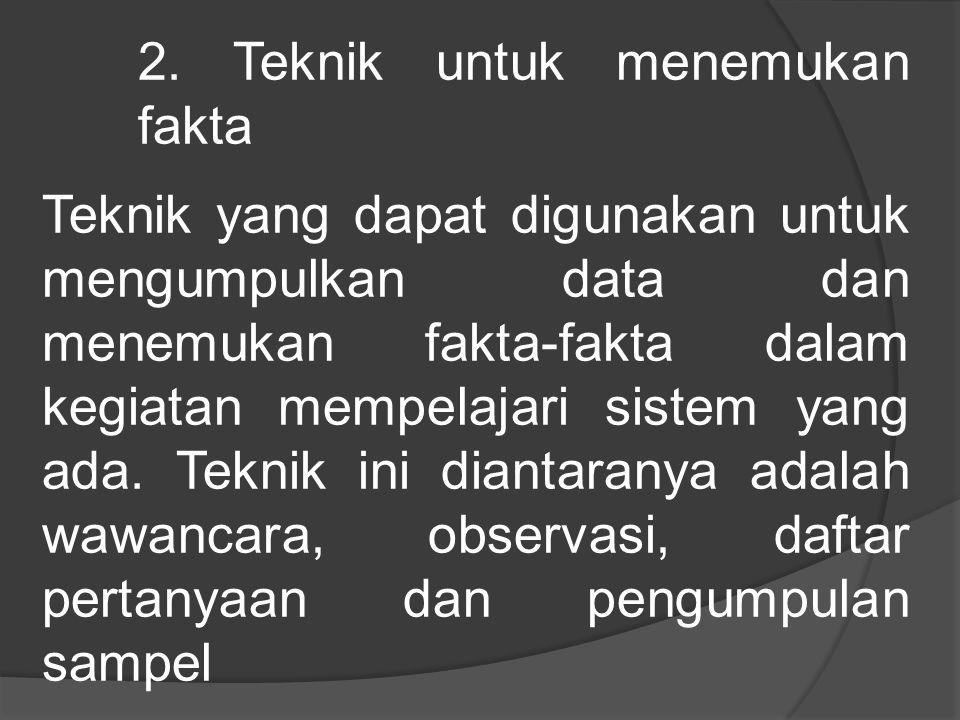 2. Teknik untuk menemukan fakta