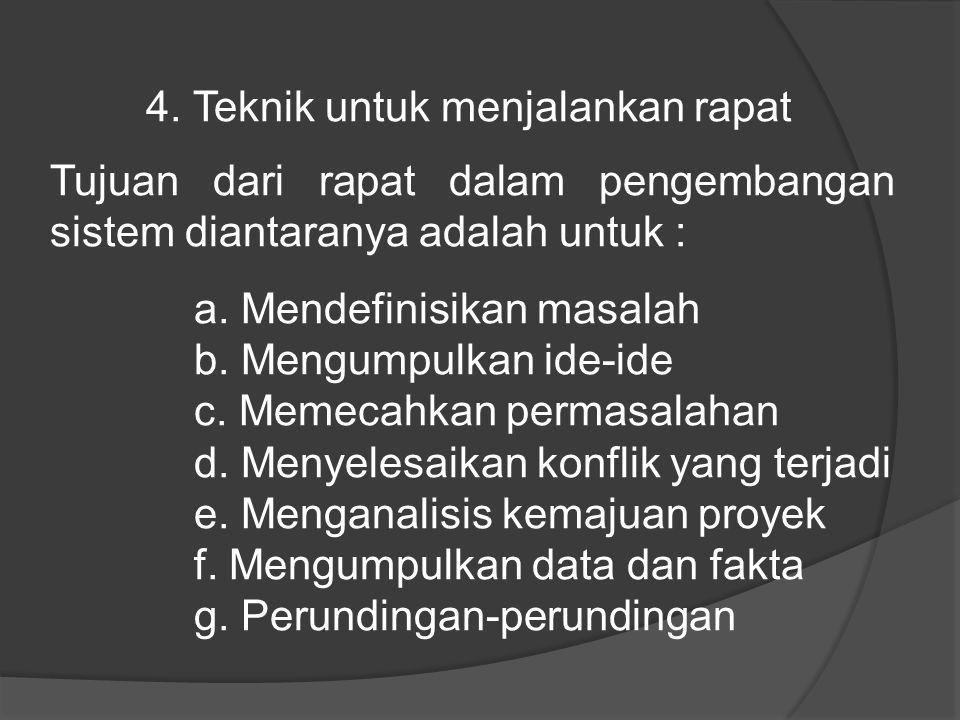 4. Teknik untuk menjalankan rapat