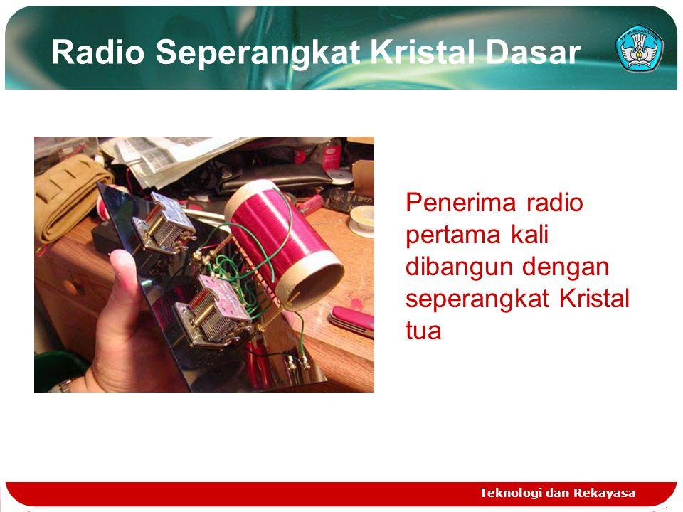 Radio Seperangkat Kristal Dasar