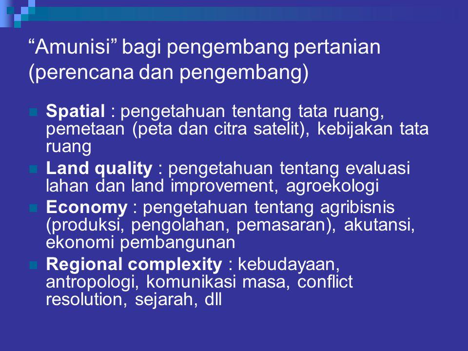 Amunisi bagi pengembang pertanian (perencana dan pengembang)