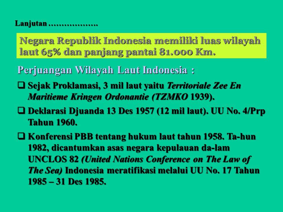 Perjuangan Wilayah Laut Indonesia :