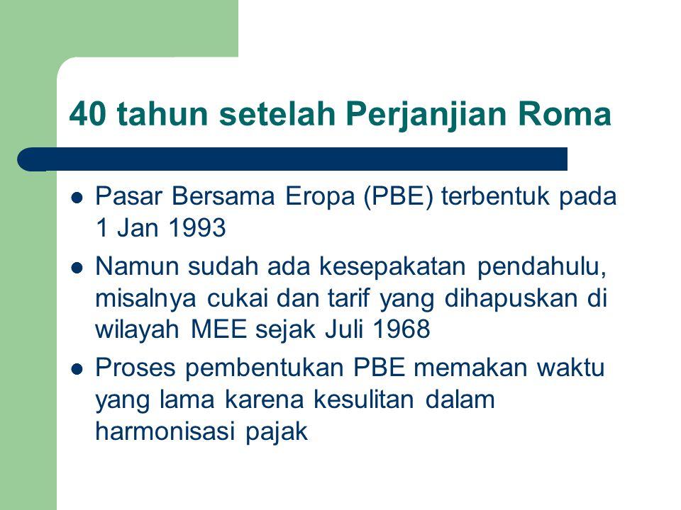 40 tahun setelah Perjanjian Roma