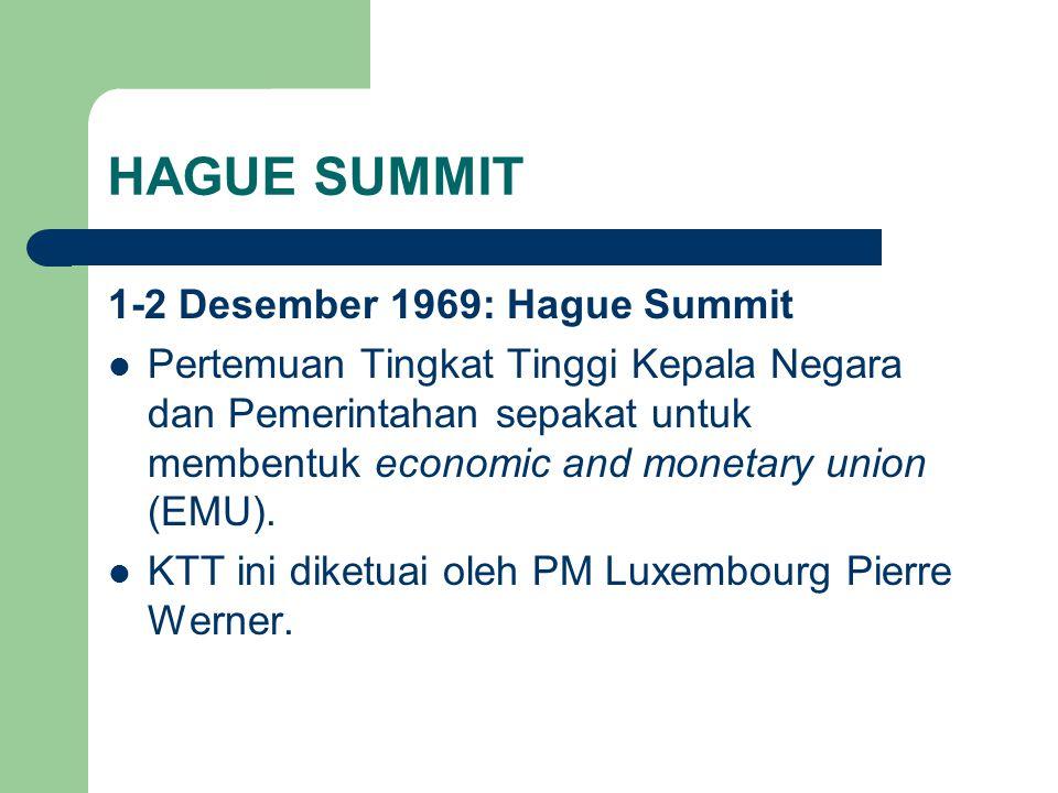 HAGUE SUMMIT 1-2 Desember 1969: Hague Summit