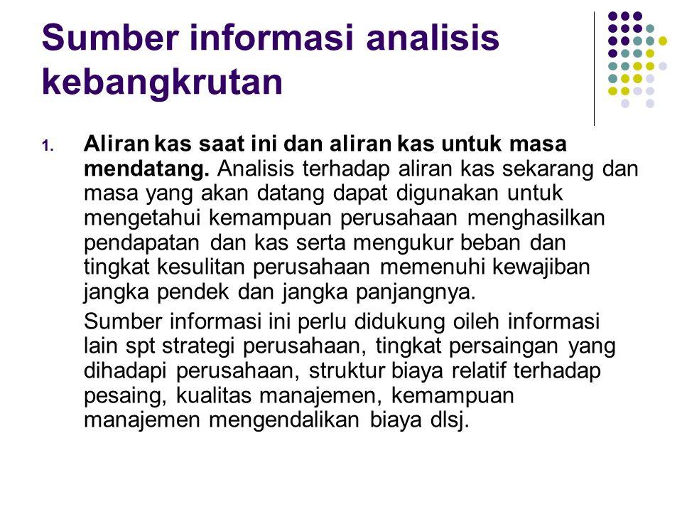 Sumber informasi analisis kebangkrutan