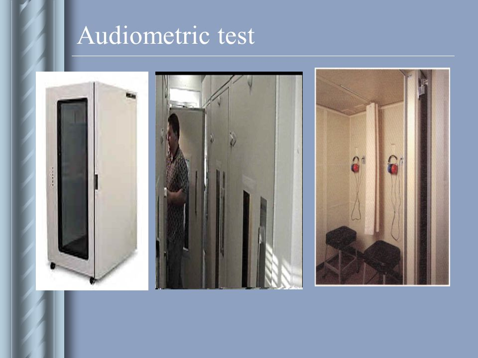 Audiometric test