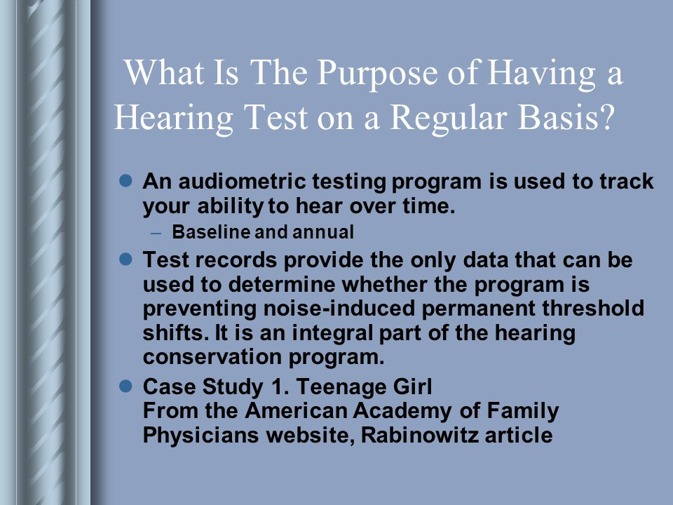 What Is The Purpose of Having a Hearing Test on a Regular Basis