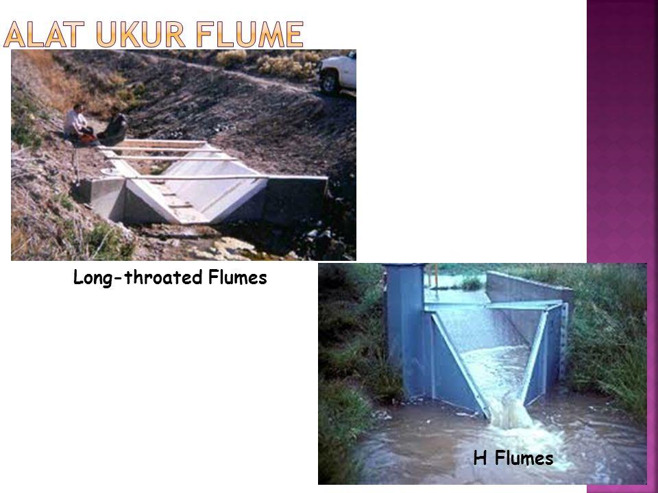 Alat Ukur Flume Long-throated Flumes H Flumes