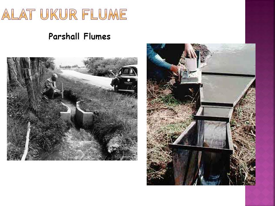 Alat Ukur Flume Parshall Flumes
