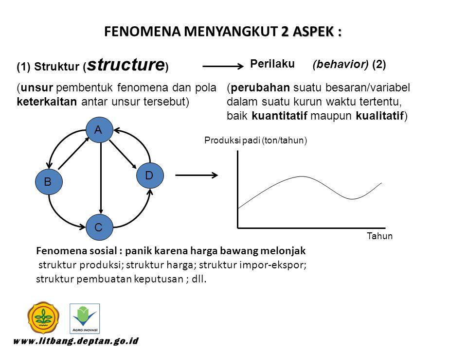 FENOMENA menyangkut 2 aspek :
