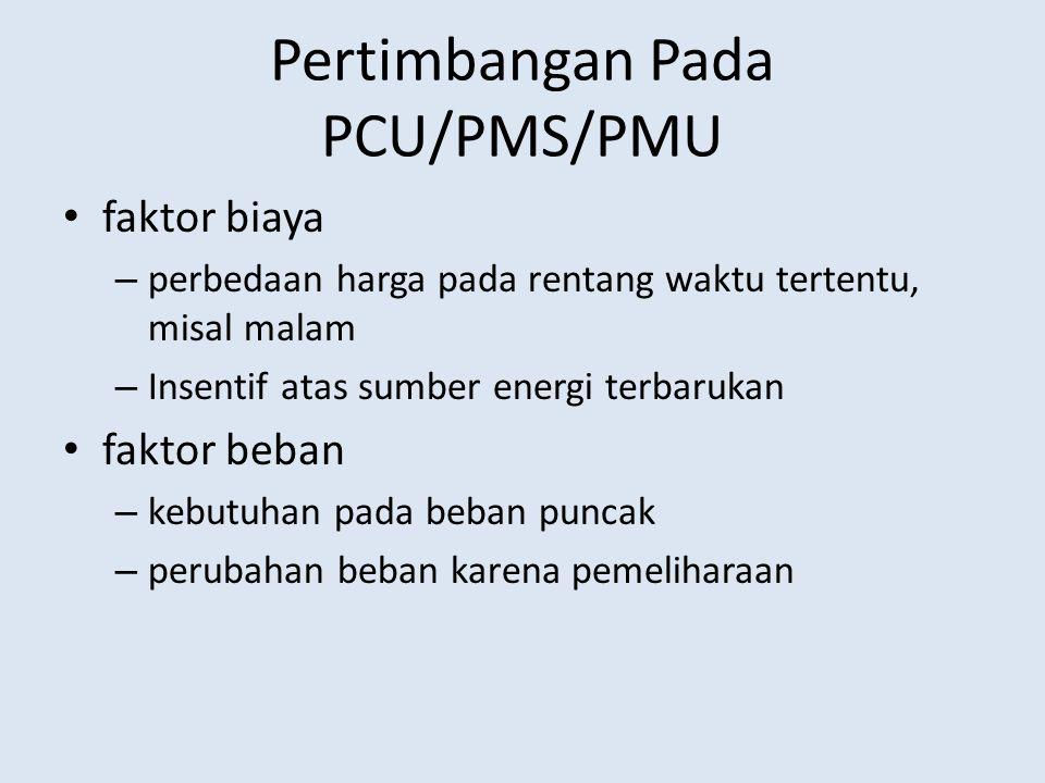 Pertimbangan Pada PCU/PMS/PMU