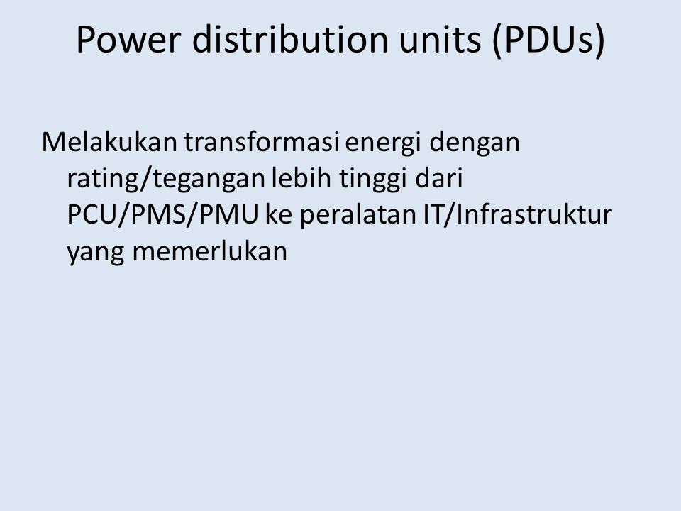Power distribution units (PDUs)