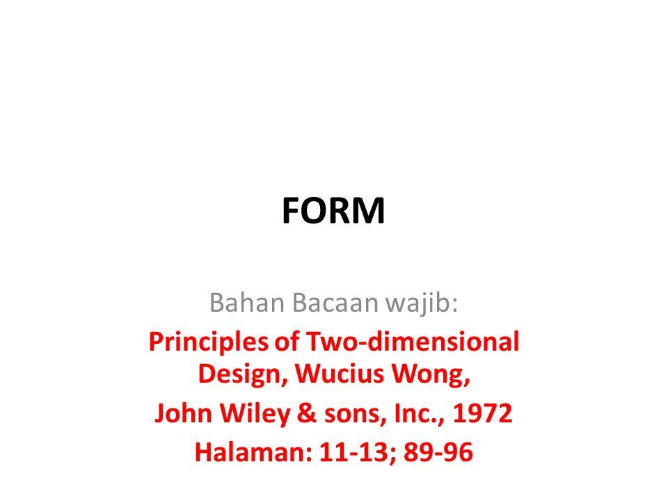 Principles of Two-dimensional Design, Wucius Wong,