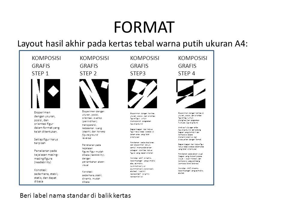 FORMAT Layout hasil akhir pada kertas tebal warna putih ukuran A4: