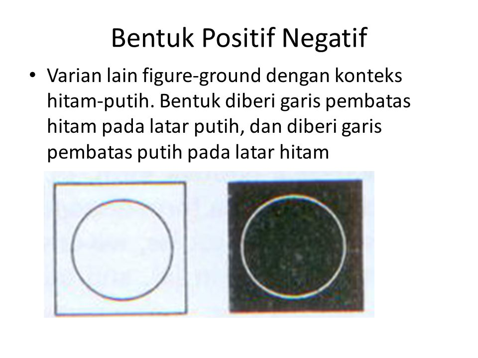 Bentuk Positif Negatif