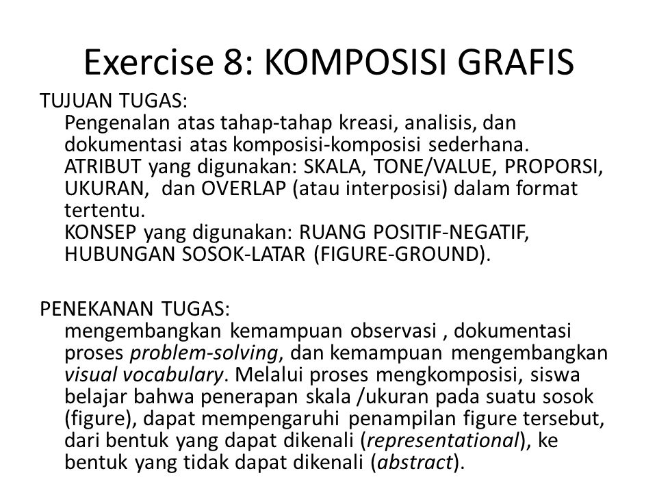 Exercise 8: KOMPOSISI GRAFIS