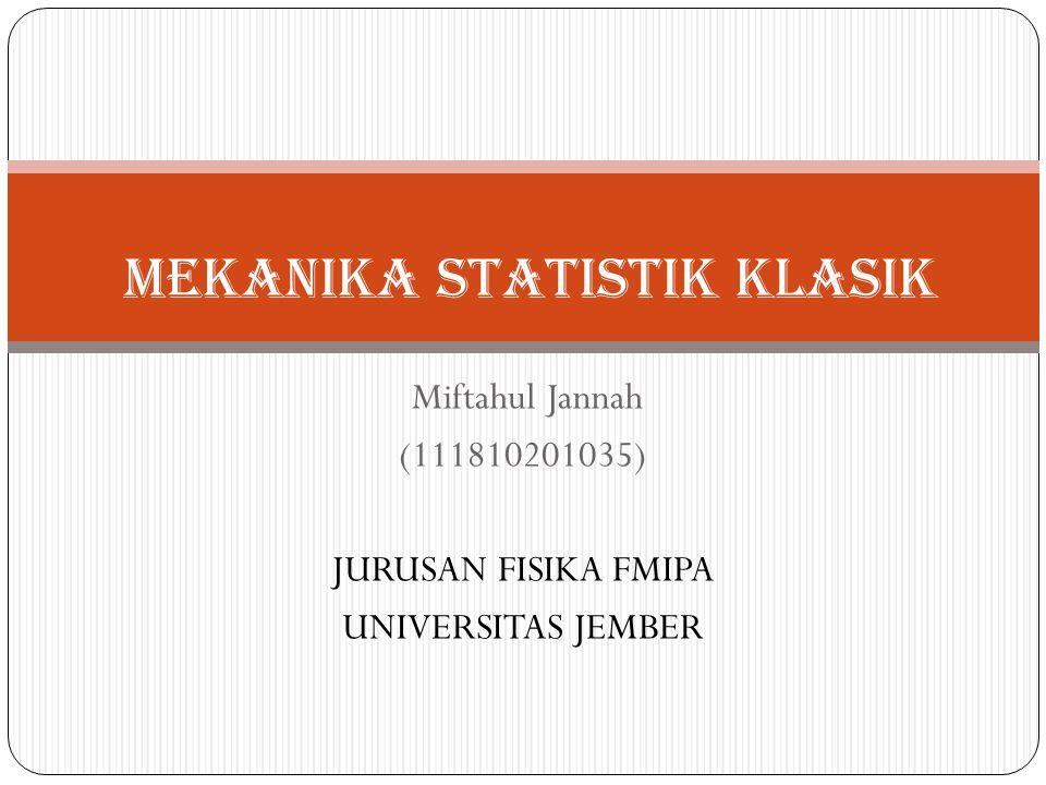 Mekanika Statistik klasik