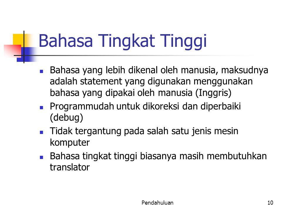Bahasa Tingkat Tinggi