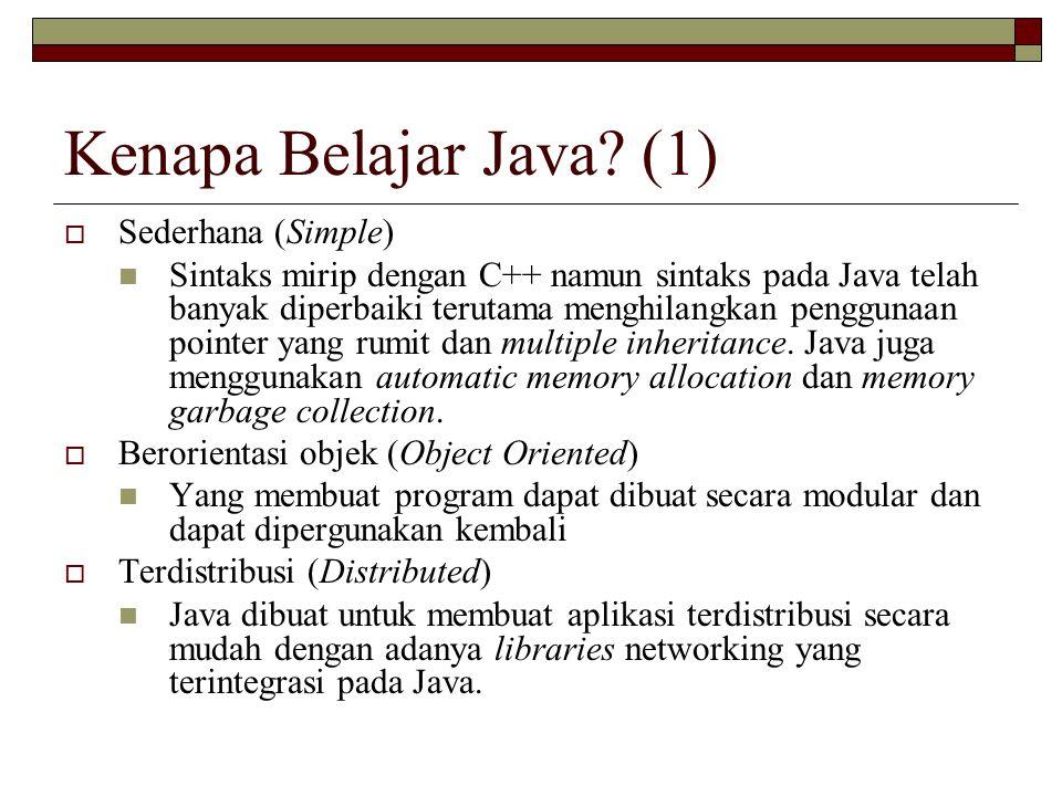 Kenapa Belajar Java (1) Sederhana (Simple)