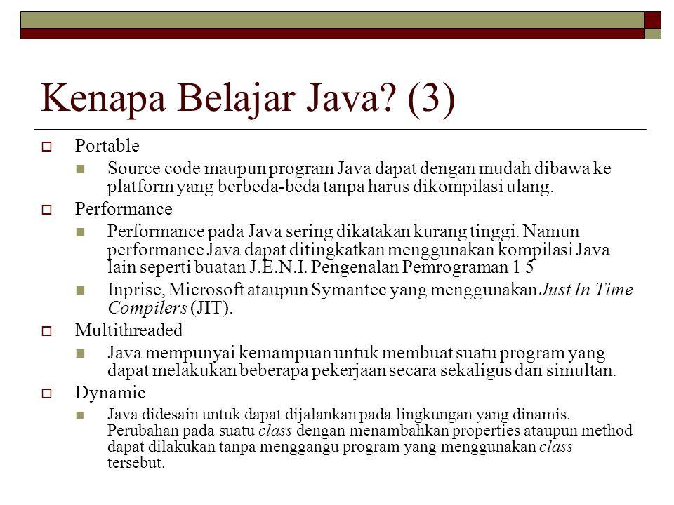 Kenapa Belajar Java (3) Portable