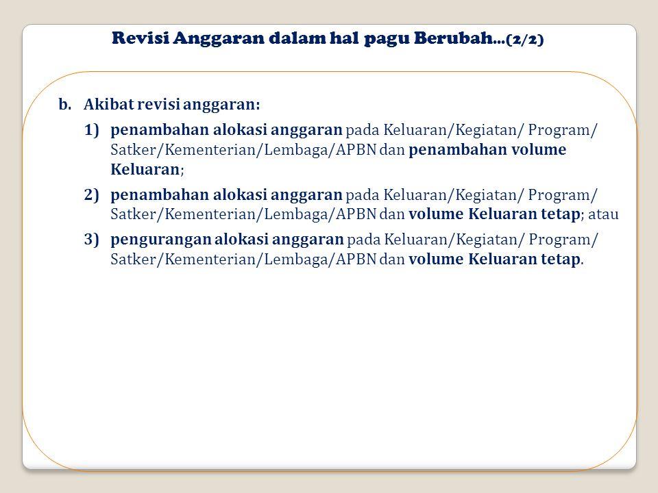 Revisi Anggaran dalam hal pagu Berubah...(2/2)
