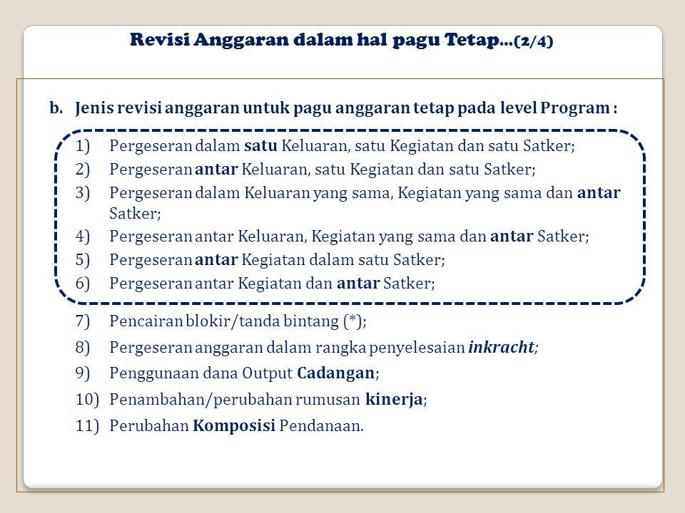 Revisi Anggaran dalam hal pagu Tetap…(2/4)