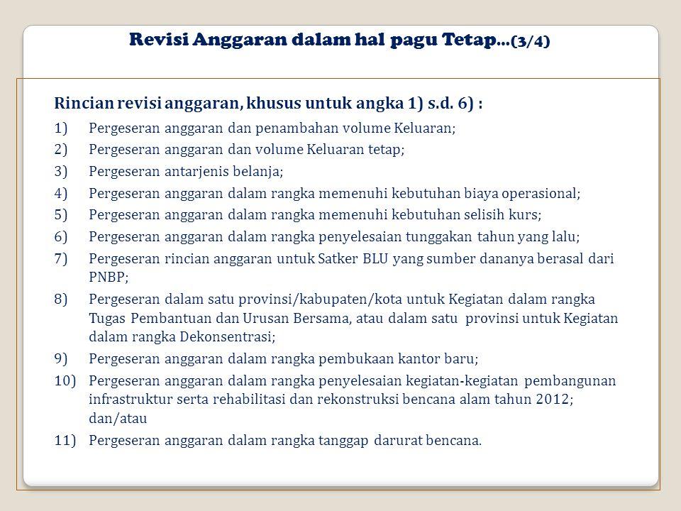 Revisi Anggaran dalam hal pagu Tetap…(3/4)