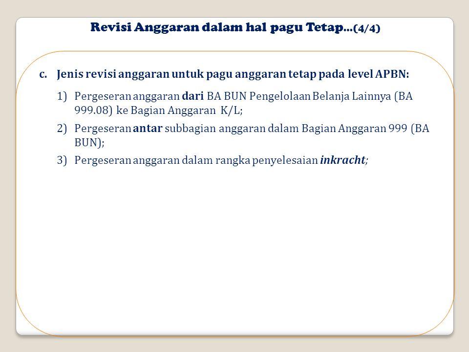 Revisi Anggaran dalam hal pagu Tetap…(4/4)