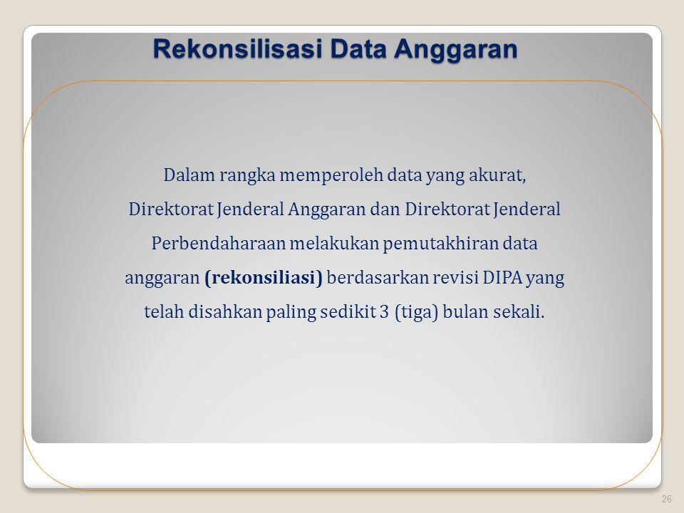 Rekonsilisasi Data Anggaran