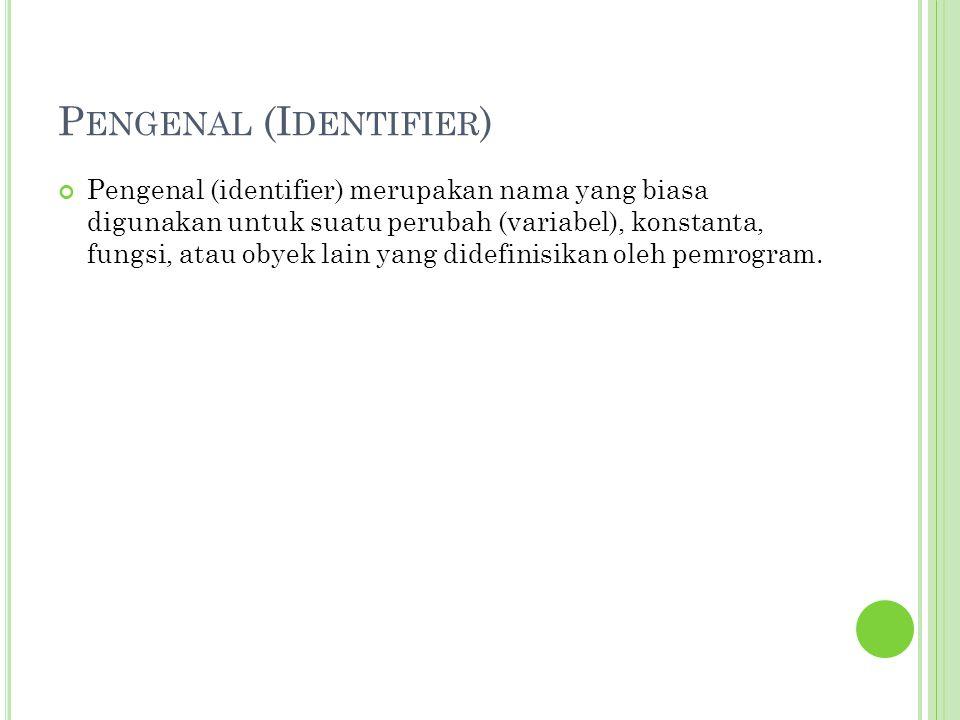 Pengenal (Identifier)
