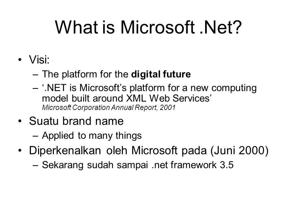 What is Microsoft .Net Visi: Suatu brand name