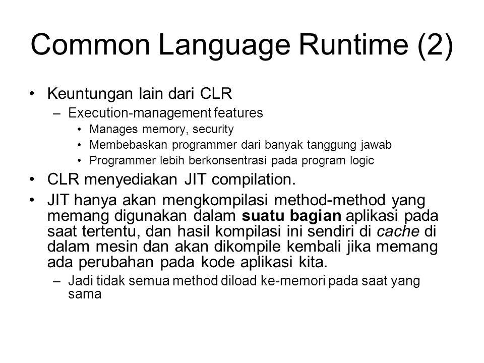 Common Language Runtime (2)