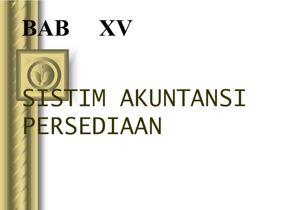 SISTIM AKUNTANSI PERSEDIAAN
