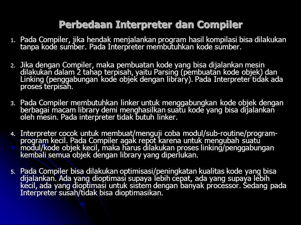 Perbedaan Interpreter dan Compiler