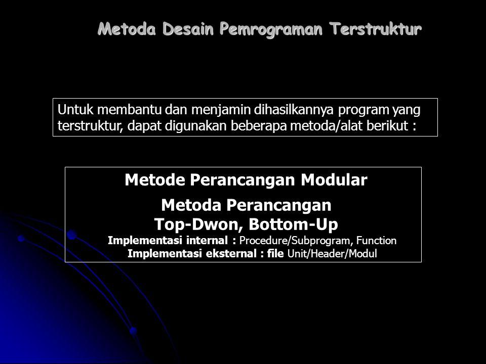Metoda Desain Pemrograman Terstruktur