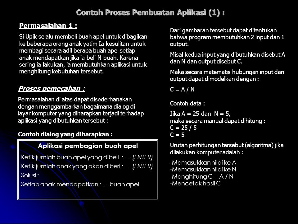 Contoh Proses Pembuatan Aplikasi (1) :