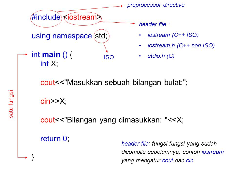 #include <iostream> using namespace std; int main () { int X;