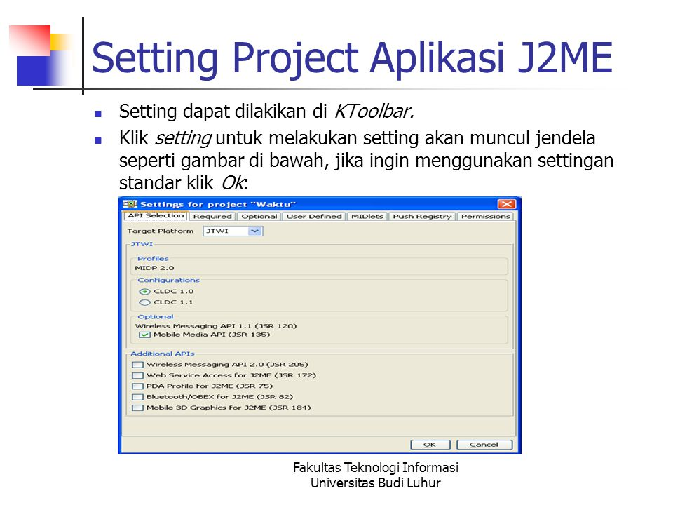 Setting Project Aplikasi J2ME