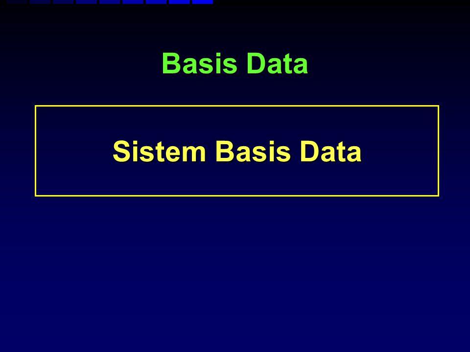 Basis Data Sistem Basis Data