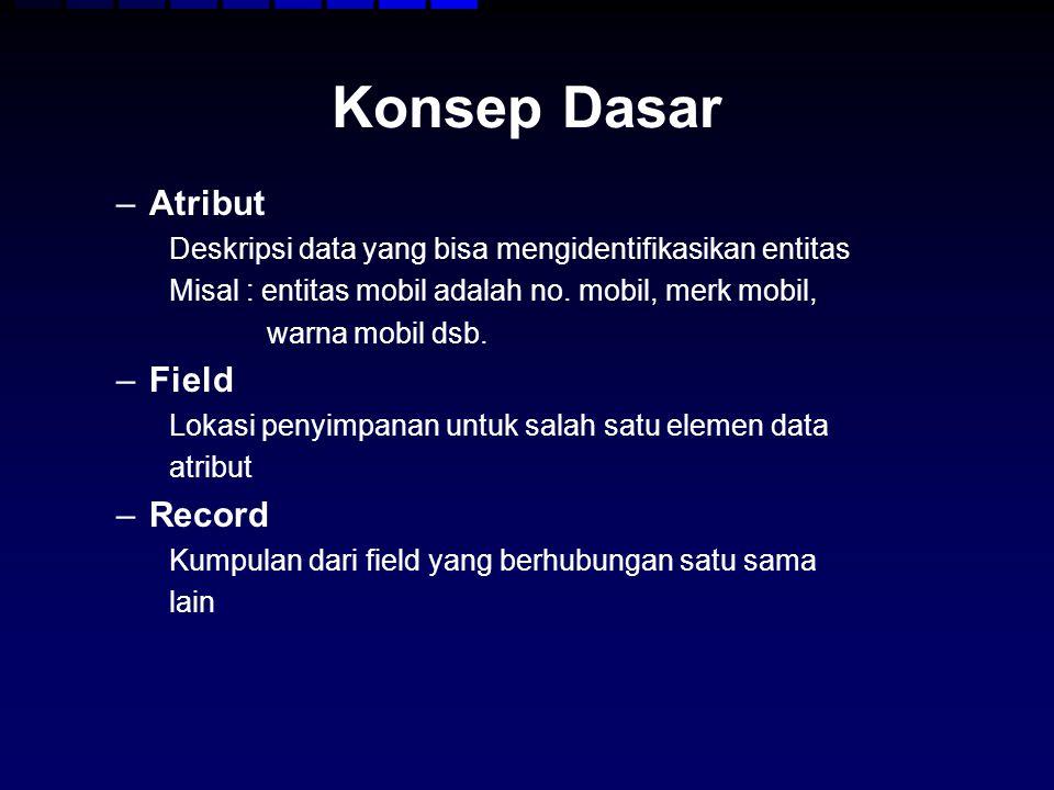 Konsep Dasar Atribut Field Record