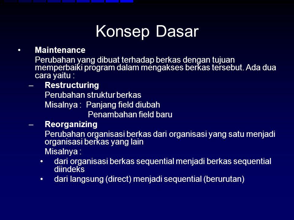 Konsep Dasar Maintenance